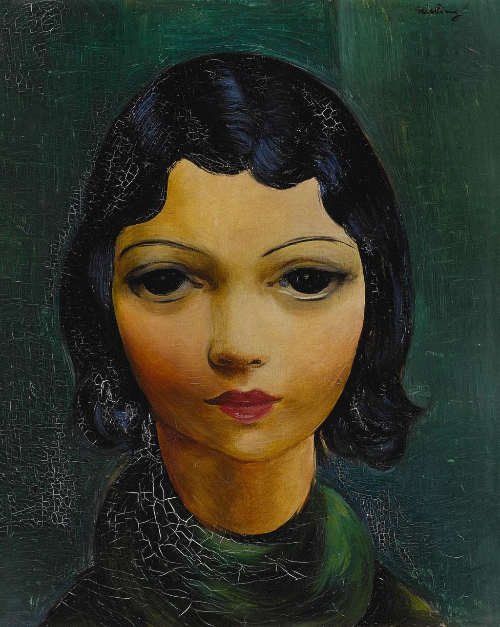 """Mojżesz Kisling (1891-1953) """"Portret młodej kobiety"""", źródło: Sotheby's"""