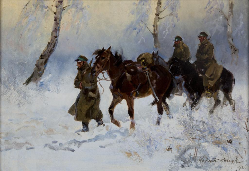 """Wojciech Kossak (1856-1942) """"Kawalerzyści"""", 1926 rok, źródło: Muzeum Narodowe w Krakowie"""