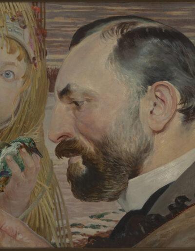 """Jacek Malczewski (1854-1929) """"Portret Feliksa Mangghi Jasieńskiego"""", 1903 rok, źródło: Muzeum Narodowe w Krakowie"""