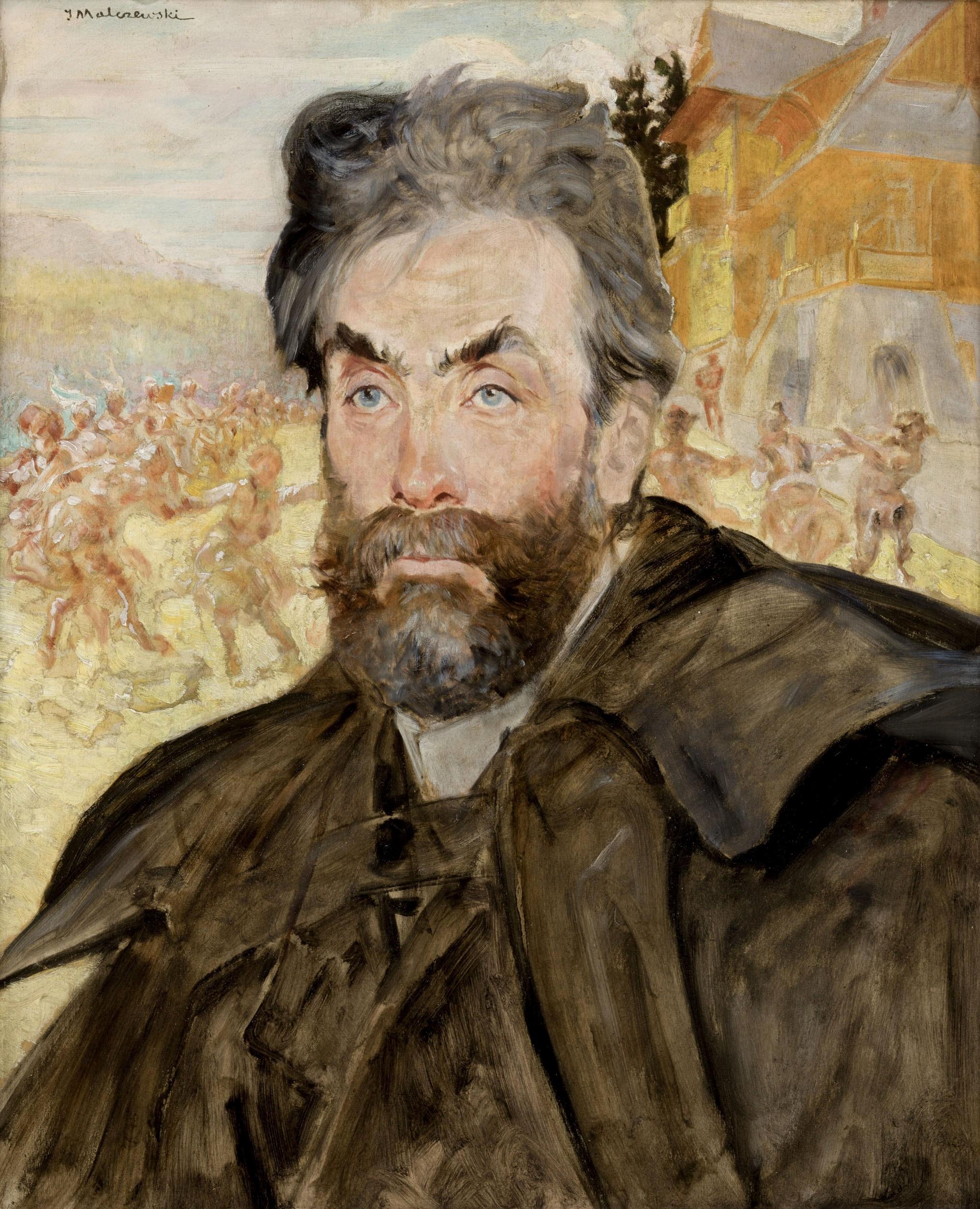 """Jacek Malczewski (1854-1929) """"Portret Stanisława Witkiewicza"""", 1897 rok, źródło: Muzeum Narodowe w Krakowie"""