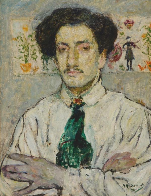 """Mela Muter (1876-1967) """"Portret Leopolda Gottlieba"""", 1910 rok, źródło: własność prywatna, Barcelona"""