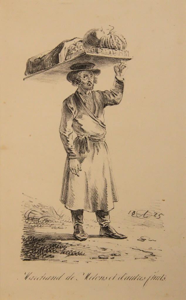 """Aleksander Orłowski (1777-1832) """"Sprzedawca melonów"""", źródło: Sovcom"""