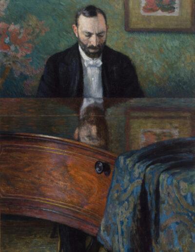 """Józef Pankiewicz (1866-1940) """"Feliks Jasieński przy fortepianie"""", 1908 rok, źródło: Muzeum Narodowe w Krakowie"""