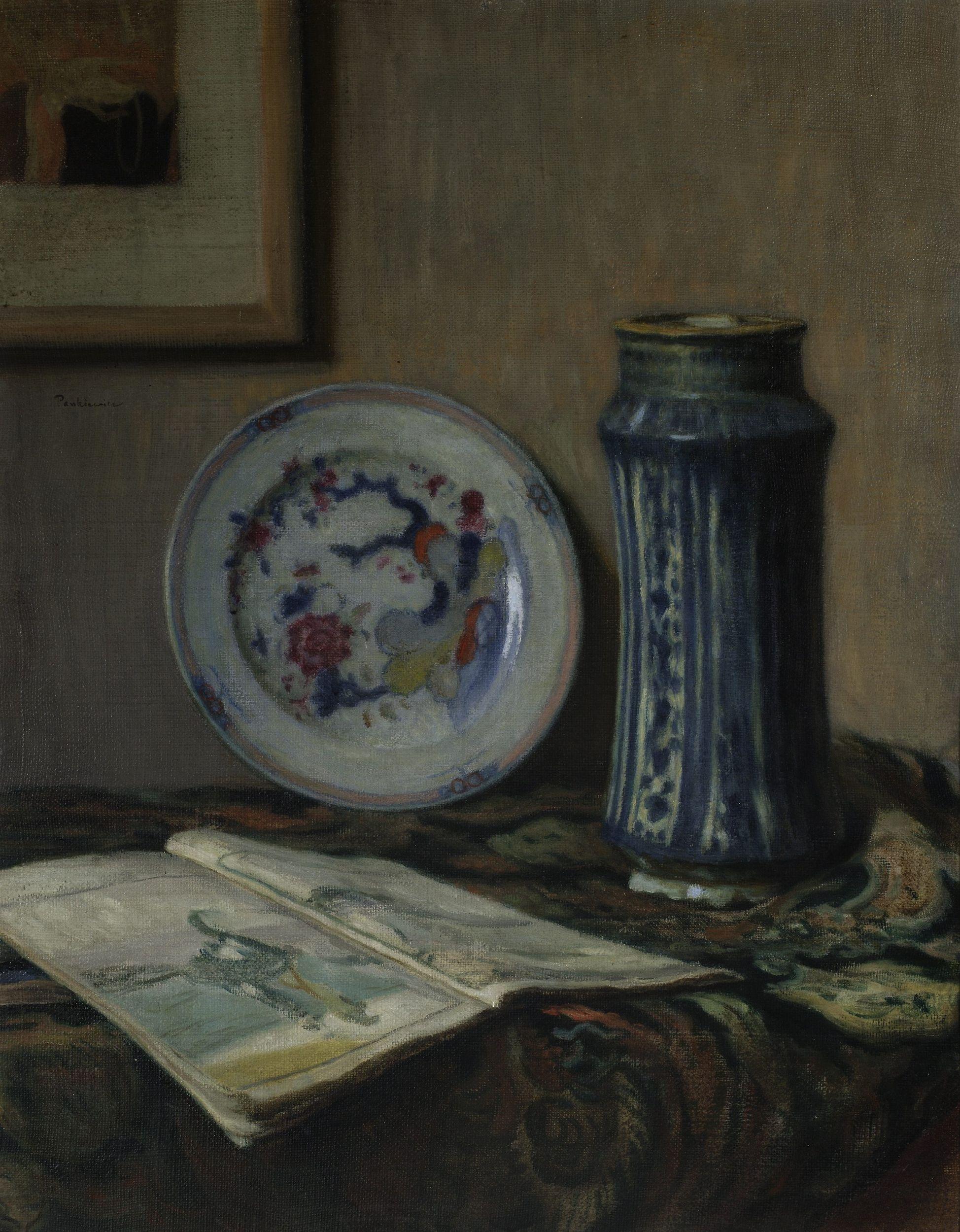 """Józef Pankiewicz (1866-1940) """"Martwa natura z błękitnym wazonem"""", 1907 rok, źródło: Muzeum Narodowe w Warszawie"""