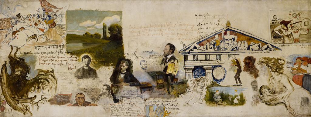 Monumentalne płótno z restauracji Turlińskiego ozdobione przez młodopolskich artystów… i nie tylko, lata 1896-1903, źródło: Muzeum Narodowe w Krakowie