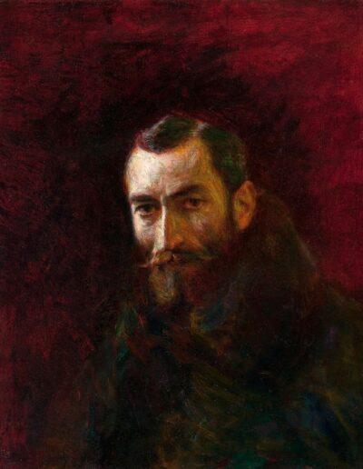 """Władysław Podkowiński (1866-1895) """"Portret Jasieńskiego"""", 1893 rok, źródło: Muzeum Narodowe w Krakowie"""