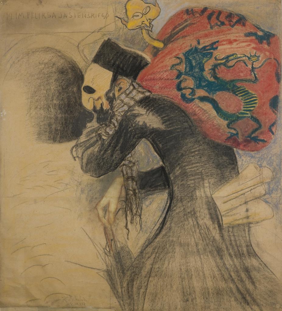 """Kazimierz Sichulski (1879-1942) """"Karykatura Mangghi i Wyczóła"""", źródło: Muzeum Narodowe w Krakowie"""