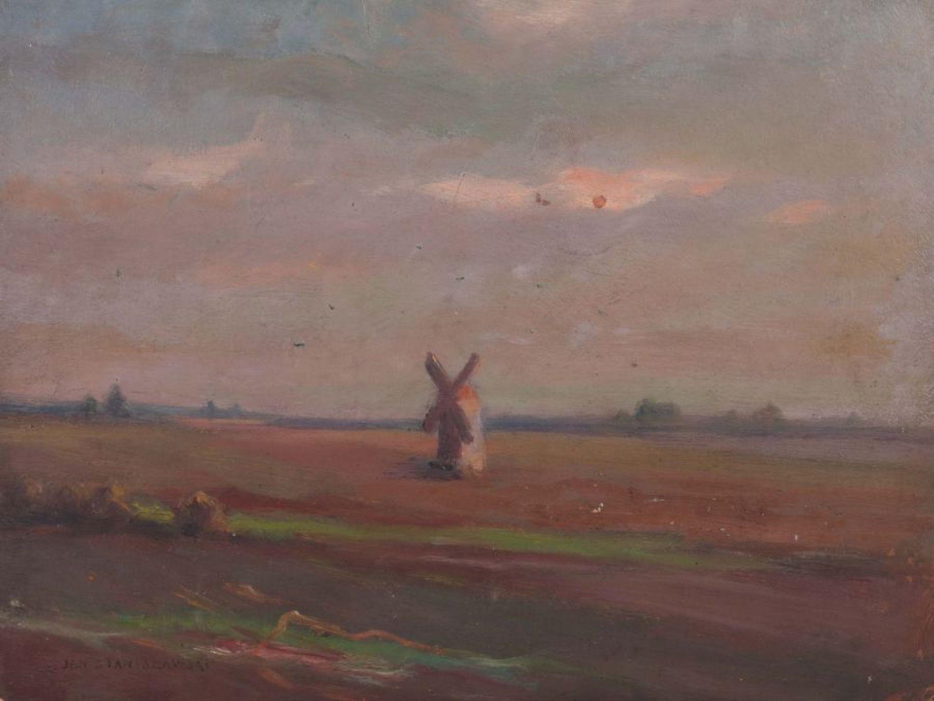 """Jan Stanisławski (1860-1907) """"Wiatrak na Ukrainie"""", źródło: Yves Siebers Auktionen"""