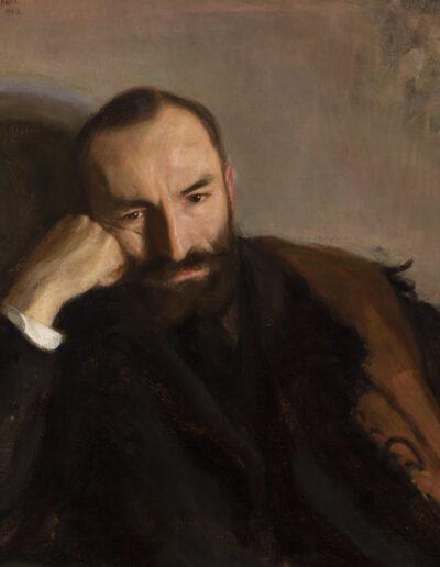 """Wojciech Weiss (1875-1950) """"Portret Feliksa Jasieńskiego"""", 1903 rok, źródło: Muzeum Narodowe w Krakowie"""