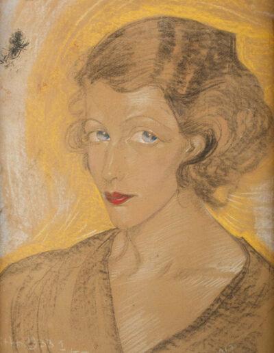 Stanisław Ignacy Witkiewicz WITKACY (1885 -1939) Portret kobiecy, 1 IV 1933