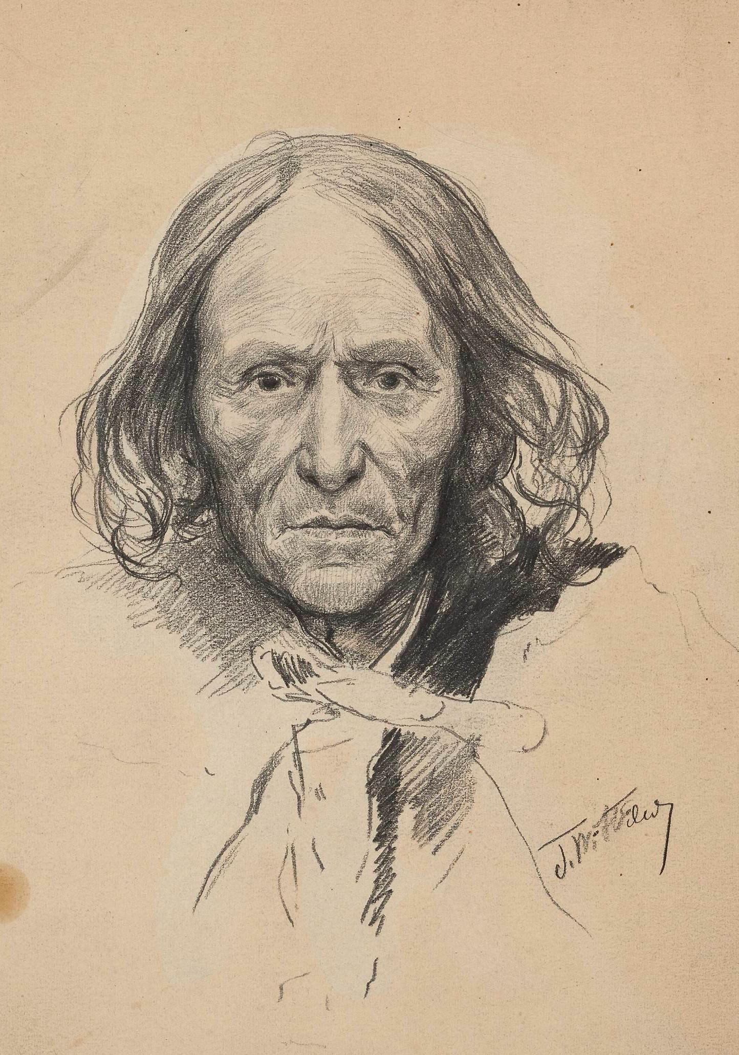 """Stanisław Witkiewicz (1851-1915) """"Portret Sabały"""", 1888 rok, źródło: Muzeum Narodowe w Warszawie"""