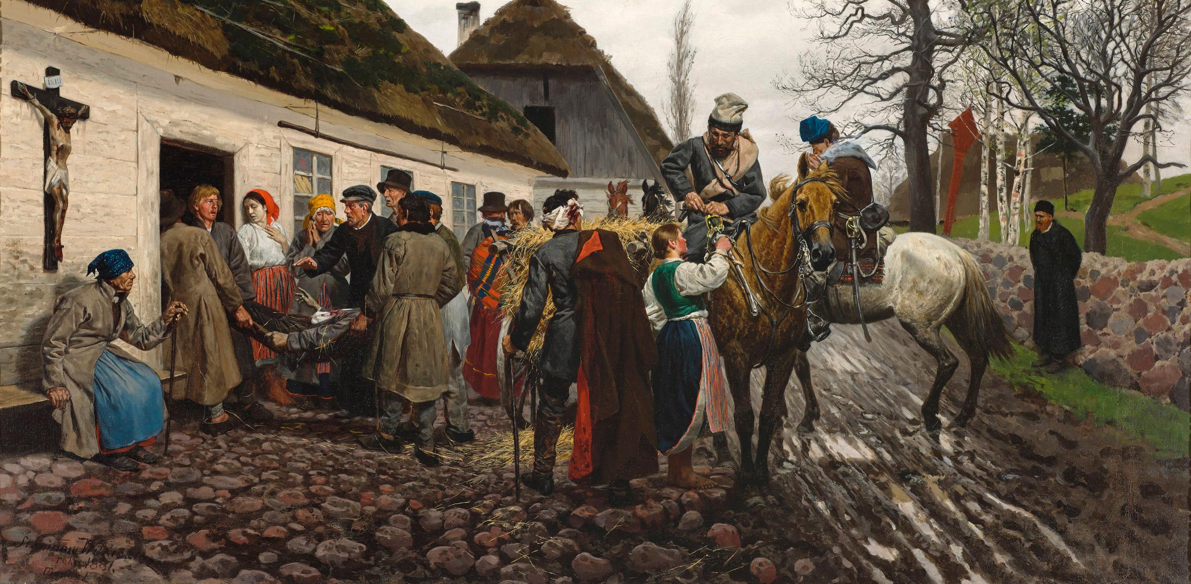 """Stanisław Witkiewicz (1851-1915) """"Ranny powstaniec"""", 1881 rok, źródło: Muzeum Narodowe w Warszawie"""