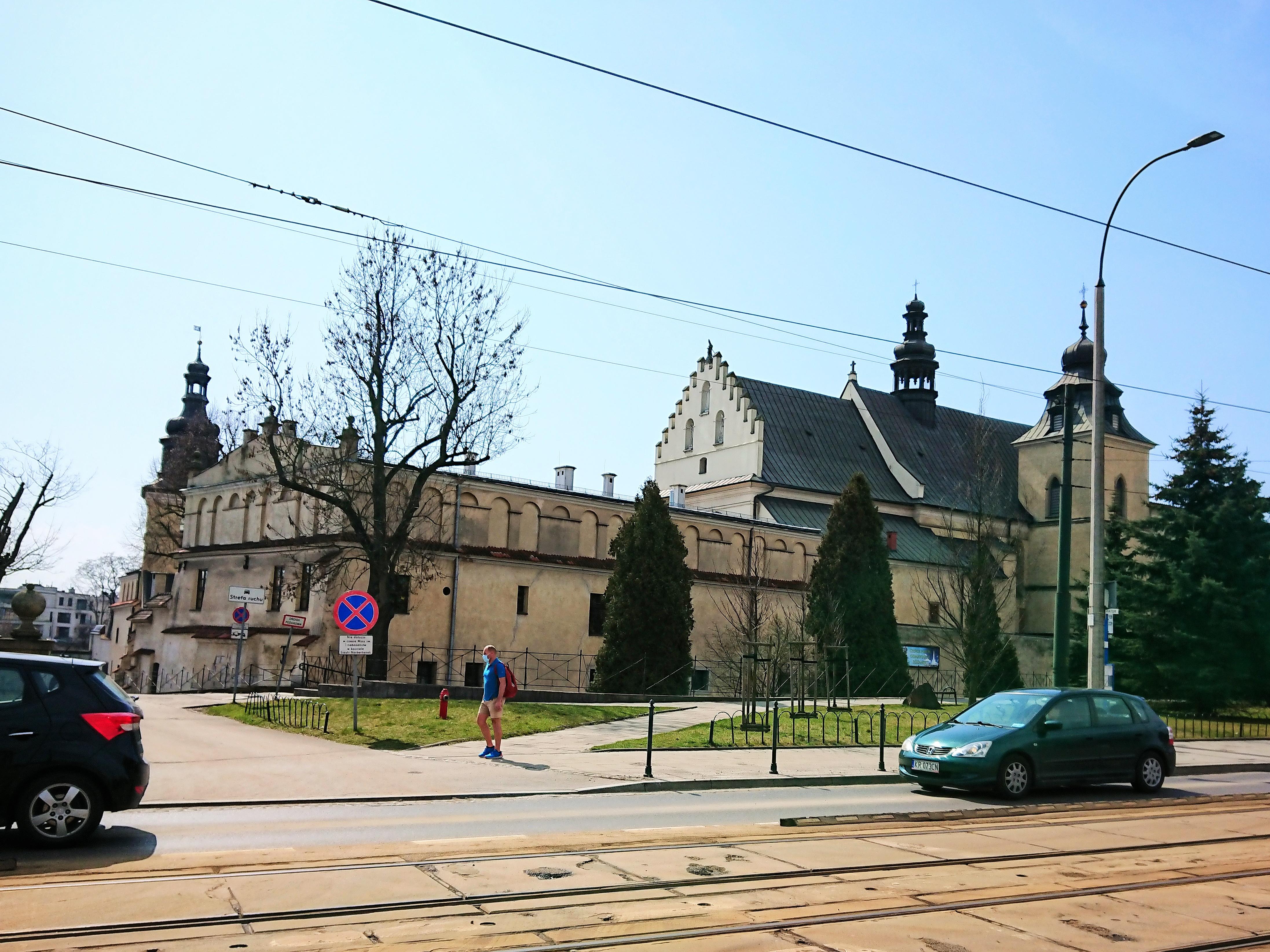 Widok na klasztor Norbertanek na krakowskim Salwatorze, źródło: archiwum autorki