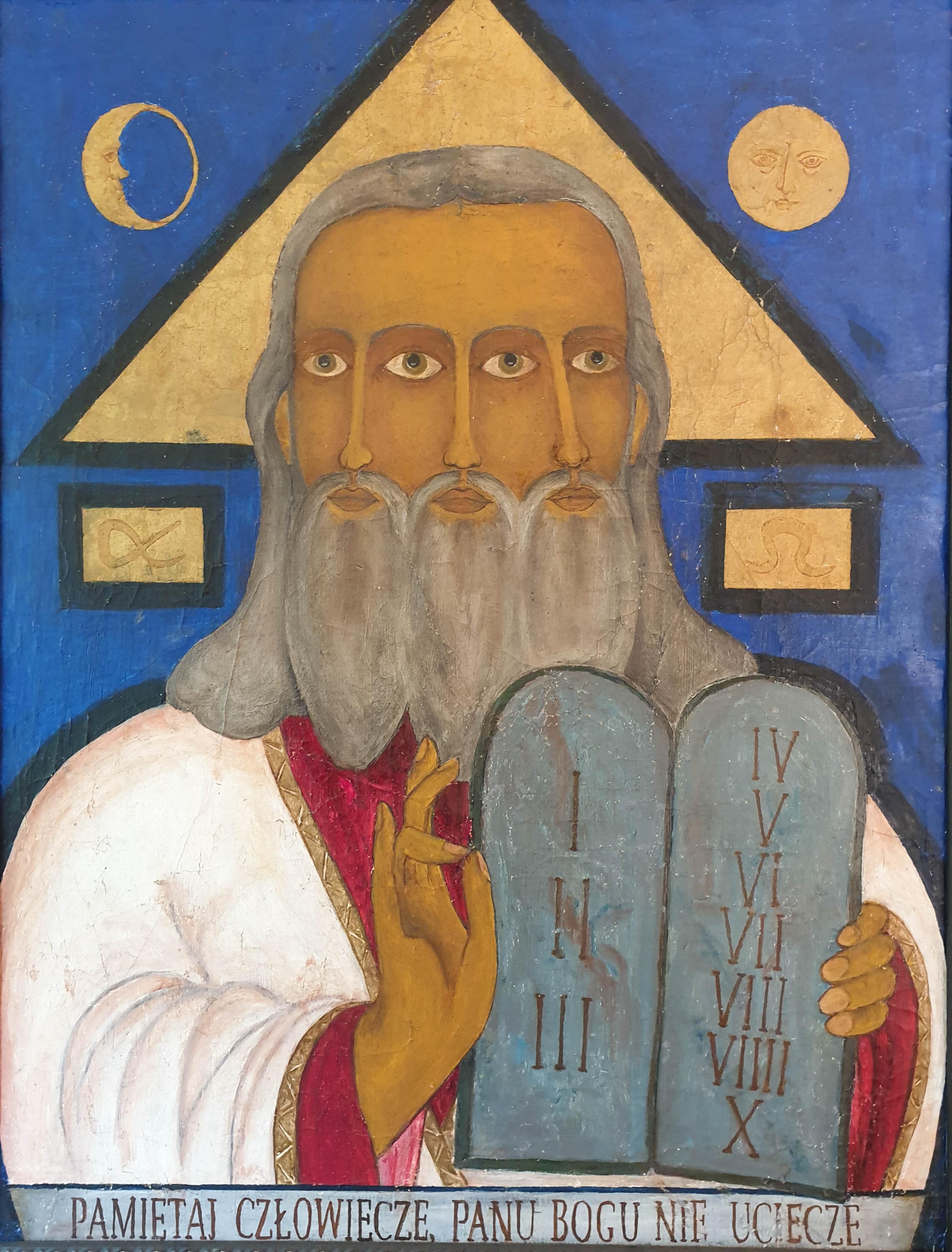 """""""Bóg o trzech twarzach"""", XIX lub początek XX wieku, źródło: archiwum autora"""