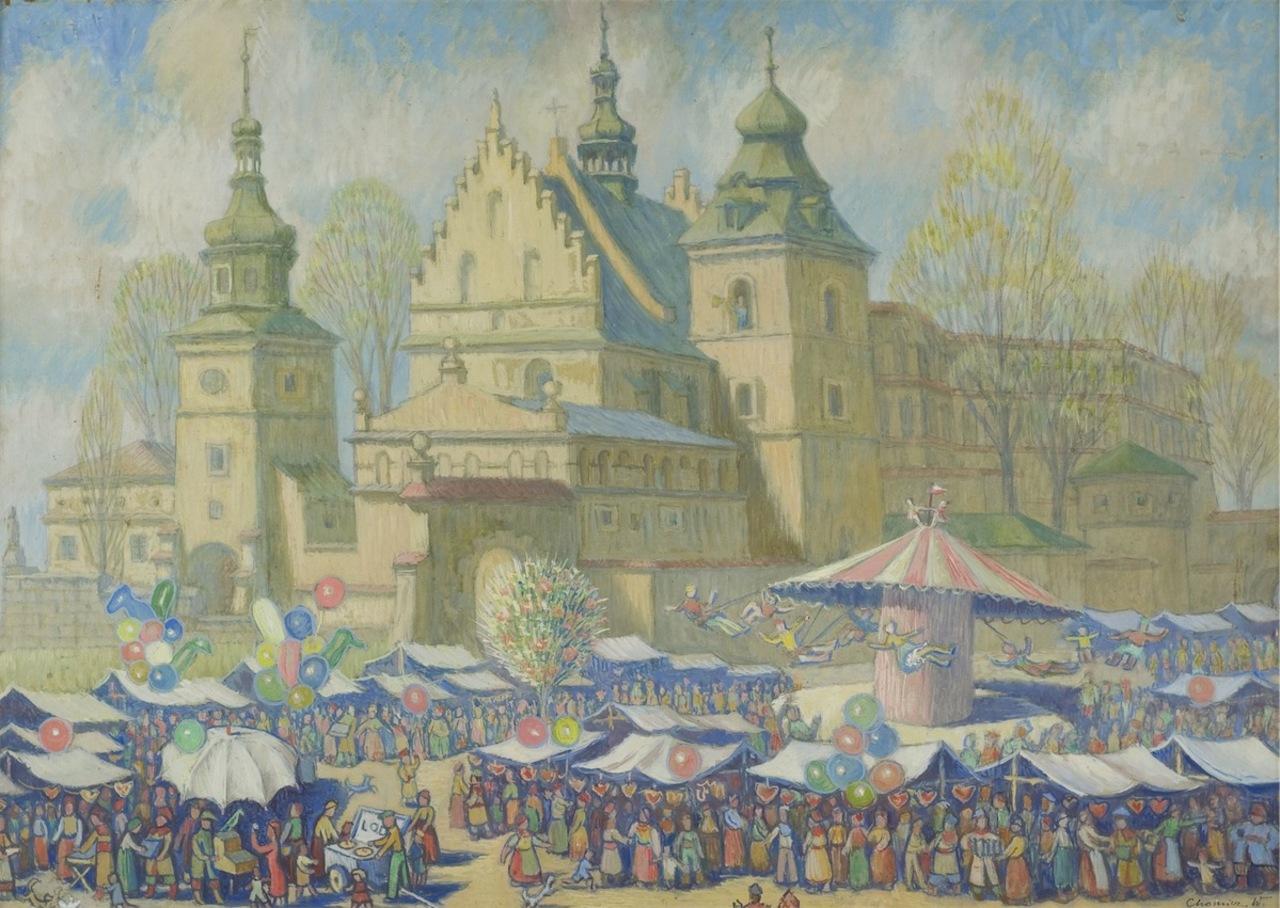 "Witold Chomicz (1910-1984) ""Zabawa w Emaus. Klasztor Norbertanek"", źródło: Rempex"