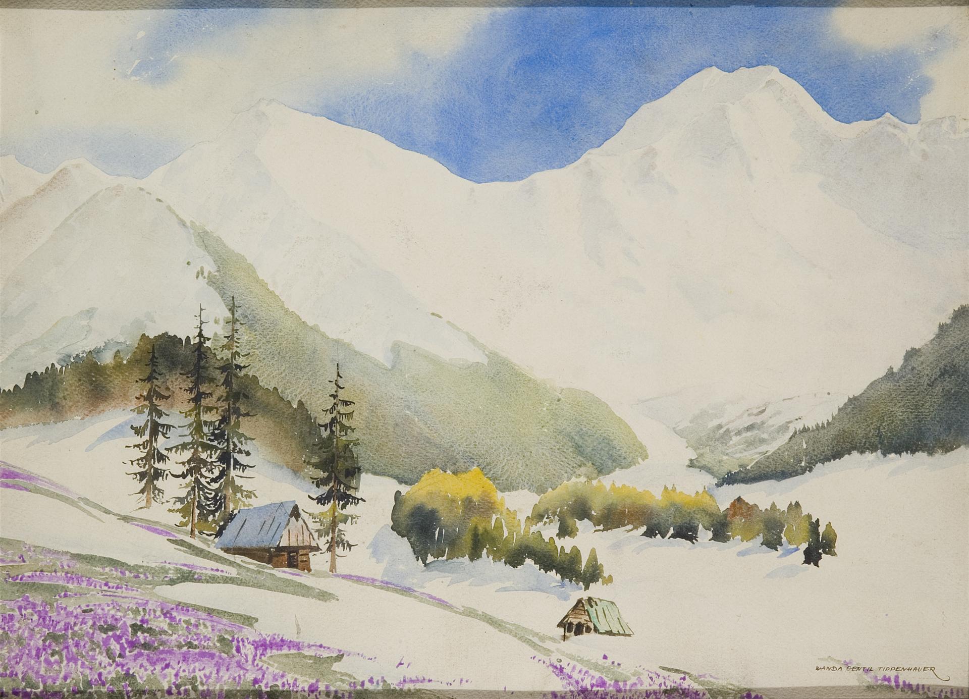 """Wanda Gentil-Tippenhauer (1899-1965) """"Wiosna w Tatrach"""", źródło: Muzeum Sztuki w Łodzi"""