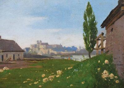 """Antoni Gramatyka (1841-1922) """"Widok na klasztor benedyktynów w Tyńcu"""", Dom Aukcyjny REMPEX"""