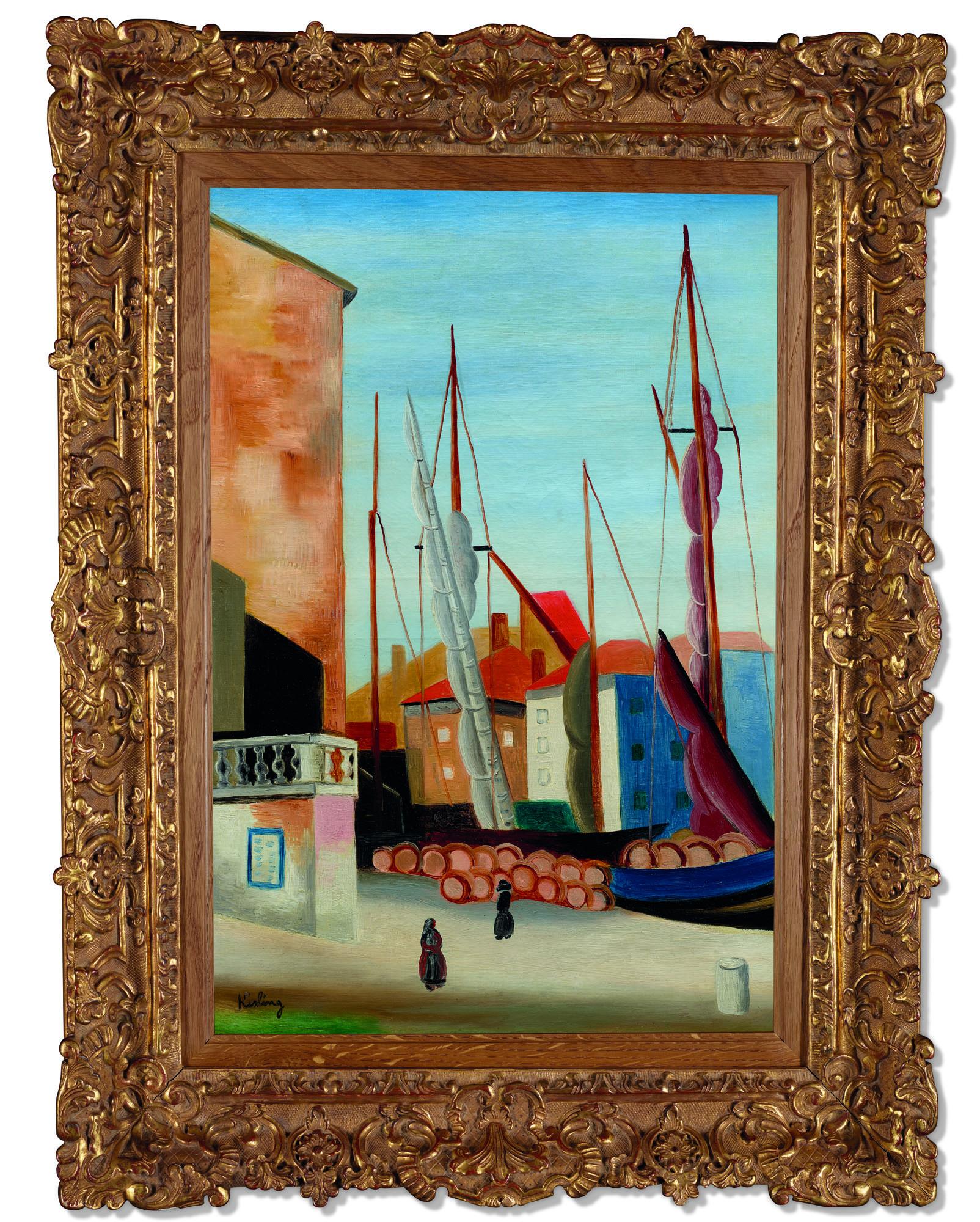 """Mojżesz Kisling (1891-1953) """"Saint Tropez"""", źródło: Christie's"""