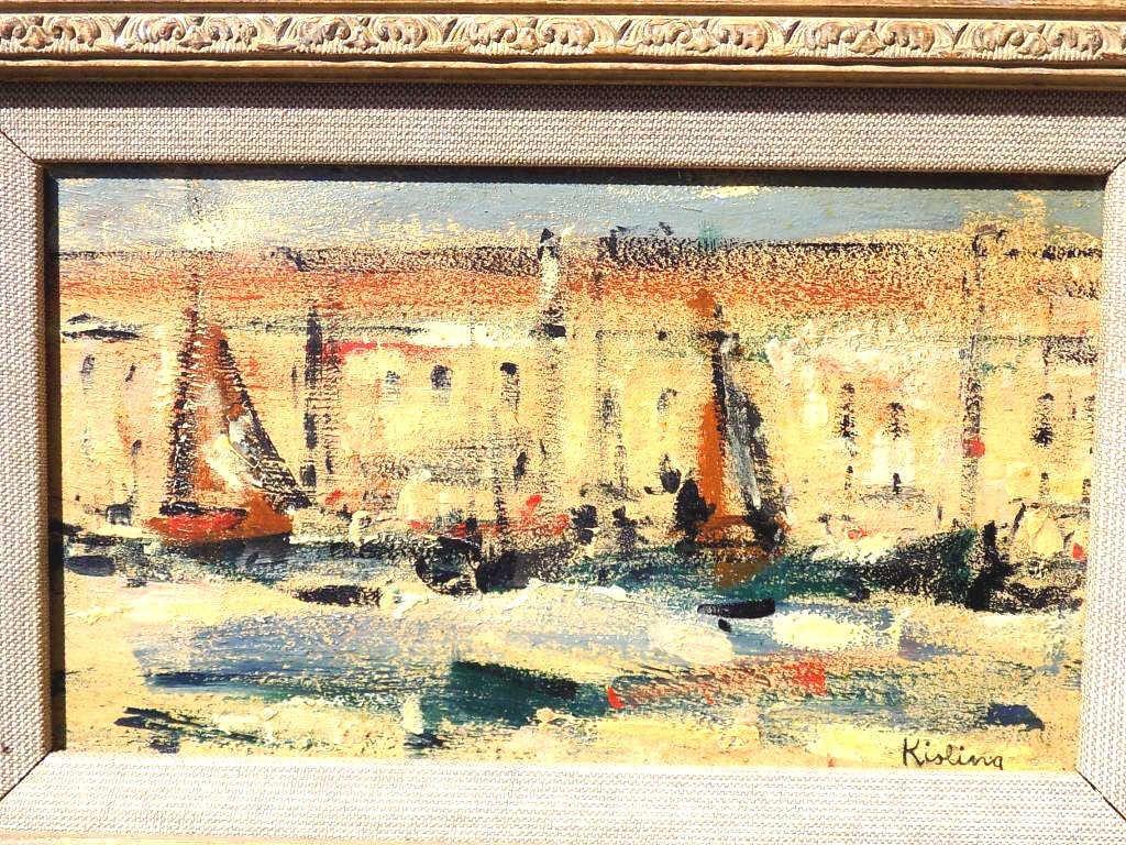 """Mojżesz Kisling (1891-1953) """"Saint Tropez"""", źródło: Great Estates Auctioneers & Appraisers"""