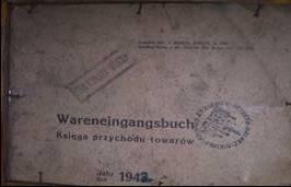 Okładka niemieckiej książki przychodu towarów z 1943 roku, źródło: archiwum autora