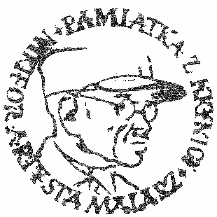 """Pieczęć """"Nikifor w czapce z daszkiem"""", źródło: archiwum autora"""