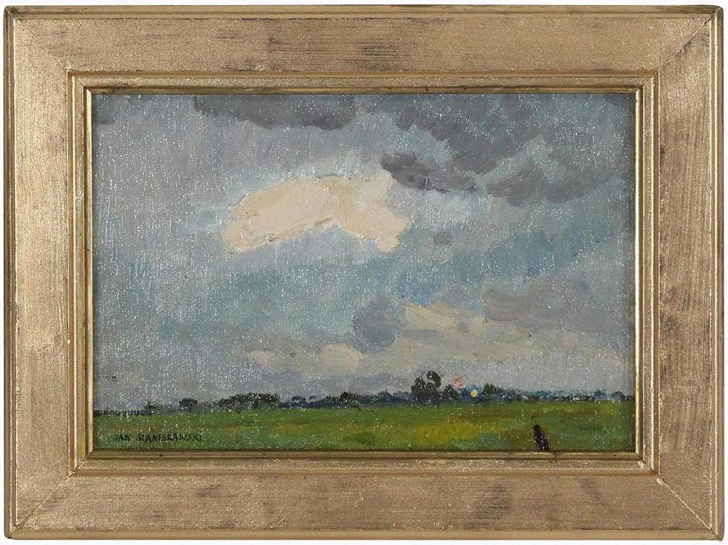 """Jan Stanisławski (1860-1907) """"Obłok"""", źródło: Donny Malone Auctions"""