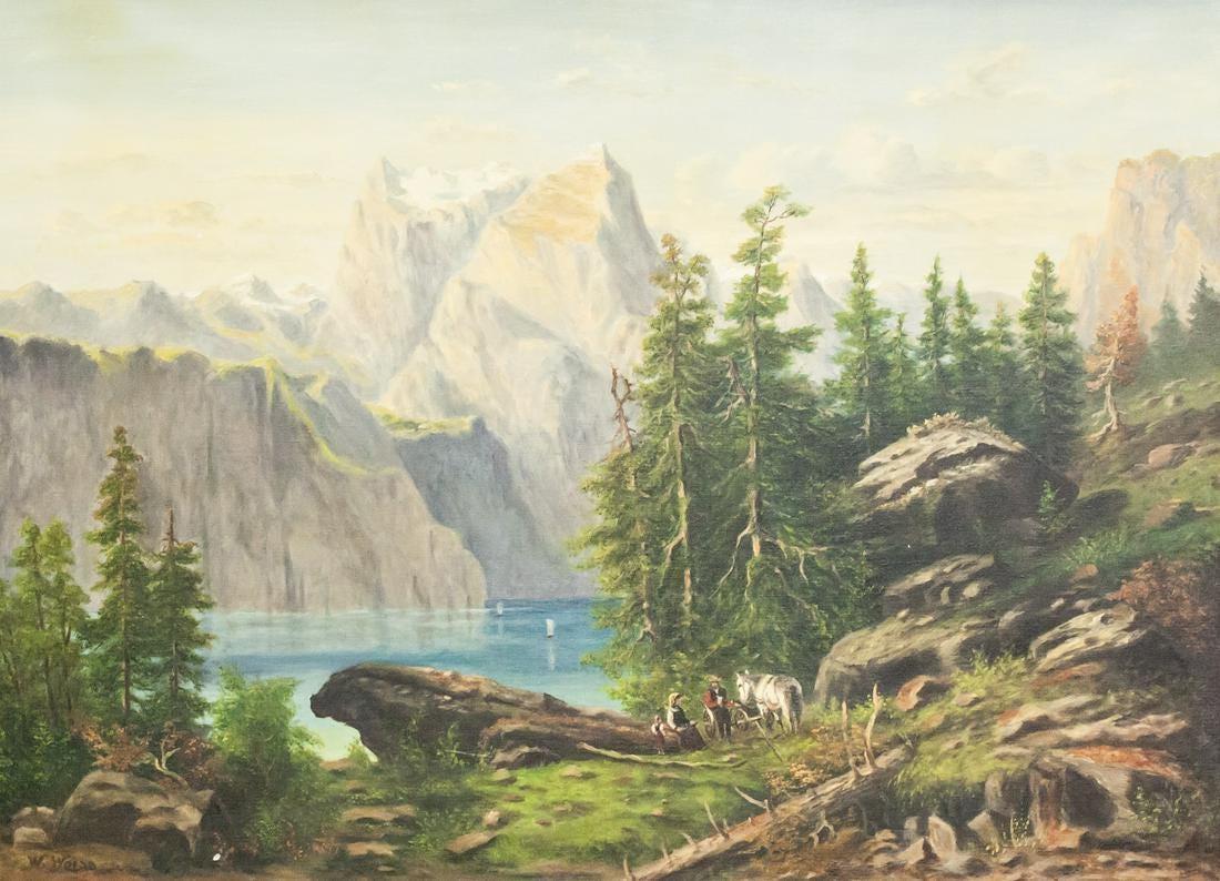 """Wojciech Weiss (1875-1950) """"Pejzaż tyrolski"""", źródło: 888 Auction"""