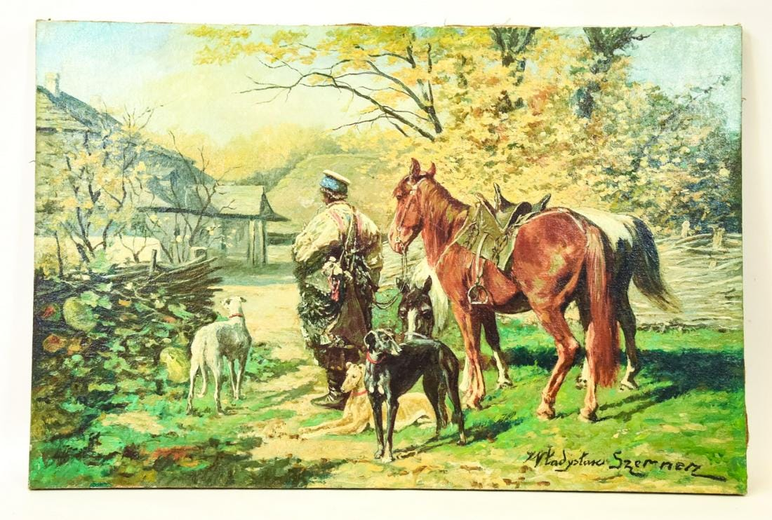 """Władysław Szerner (1836-1915) """"Odpoczynek"""", źródło: Greenwich Auction"""