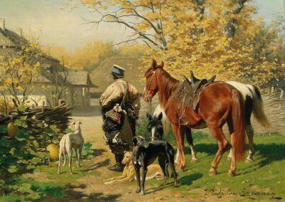 """Władysław Szerner (1836-1915) """"Odpoczynek"""", źródło: Dorotheum, Wiedeń - 2018 rok"""