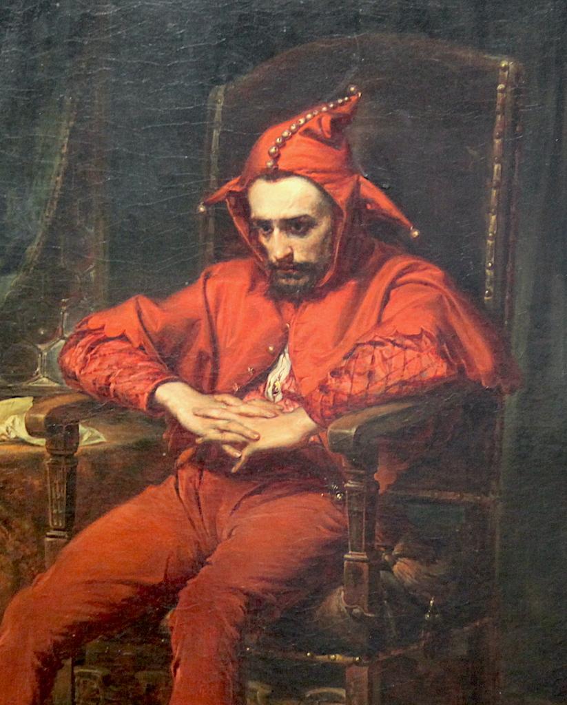 """Jan Matejko (1838-1893) """"Stańczyk"""", fragment, 1862 rok, źródło: Muzeum Narodowe w Warszawie"""