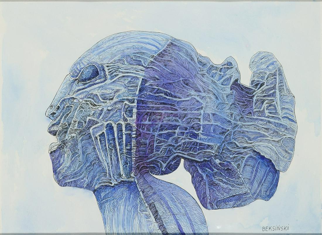 """Zdzisław Beksiński (1929-2005) """"Bez tytułu"""", źródło: Trinity International Auctions"""