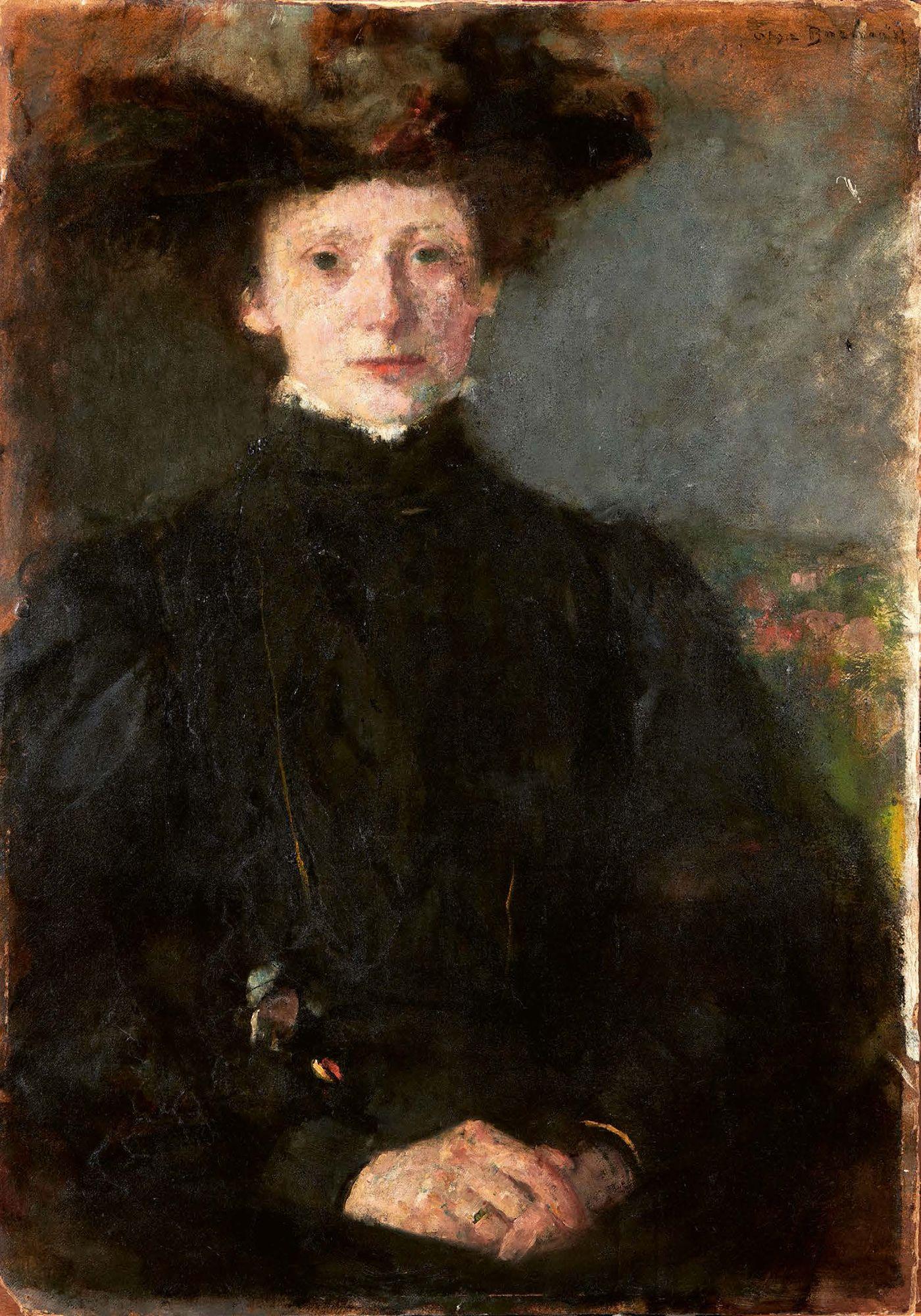 """Olga Boznańska (1865-1940) """"Dziewczyna w czerni"""", źródło: Beaussant Lefèvre"""