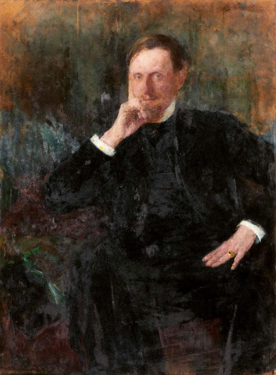 "Olga Boznańska (1865-1940) ""Portret Louisa Libaude"", źródło: Beaussant Lefèvre"