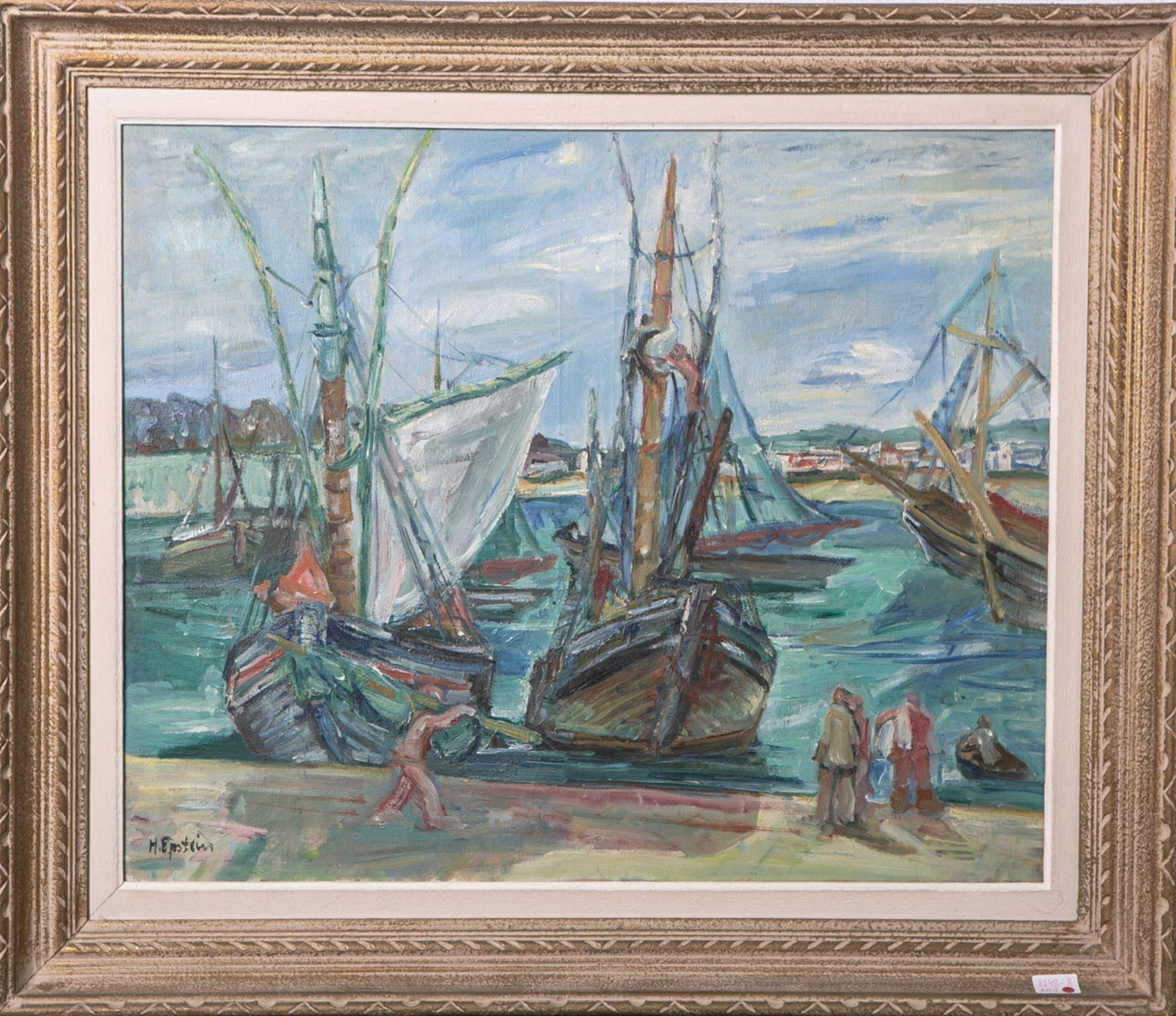 """Henryk Epstein (1892-1944) """"W porcie"""", źródło: Kunst und Auktionshaus"""