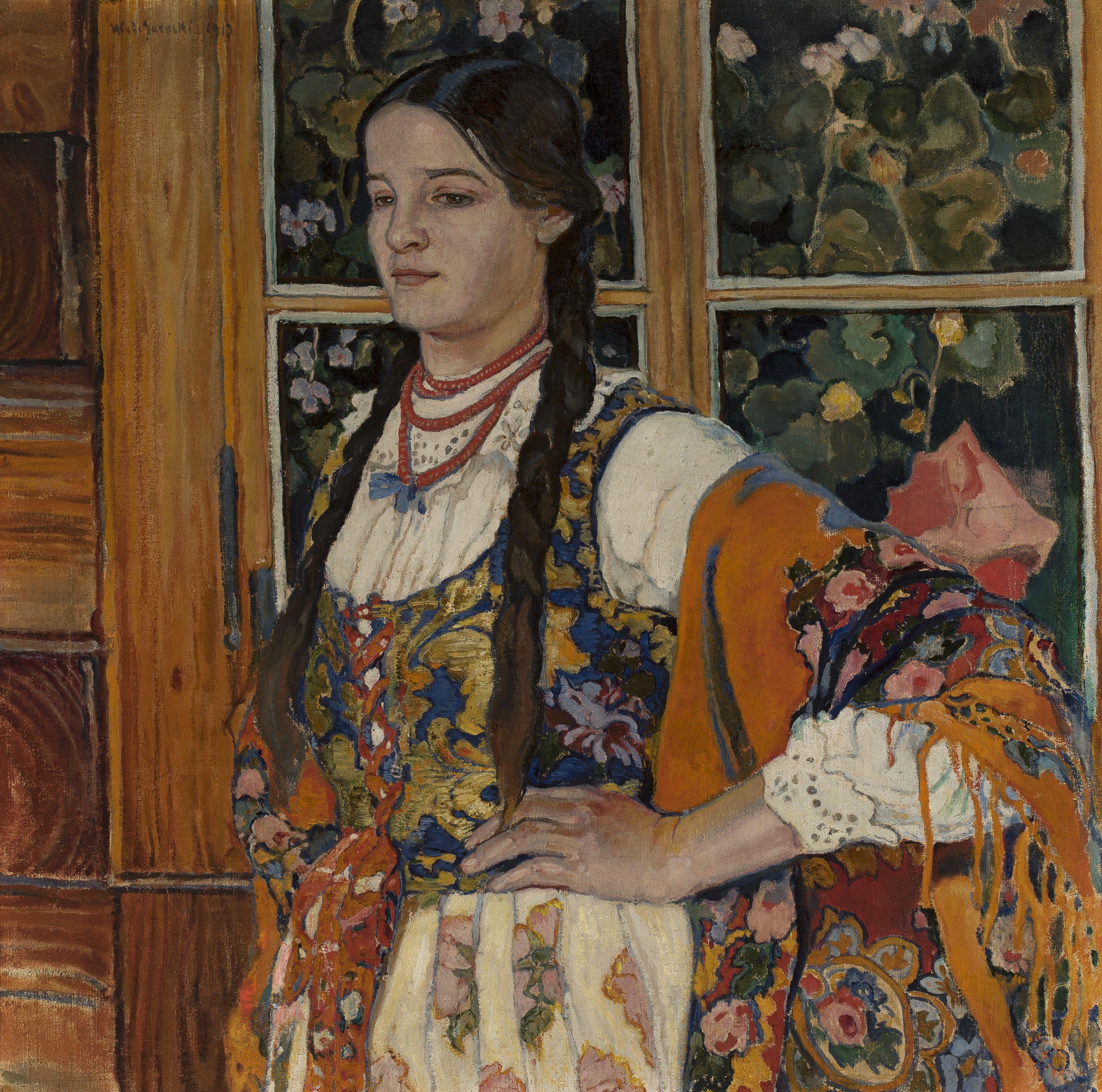 """Władysław Jarocki (1879-1965) """"Helka z Poronina"""", 1913 rok, źródło: Muzeum Narodowe w Warszawie"""