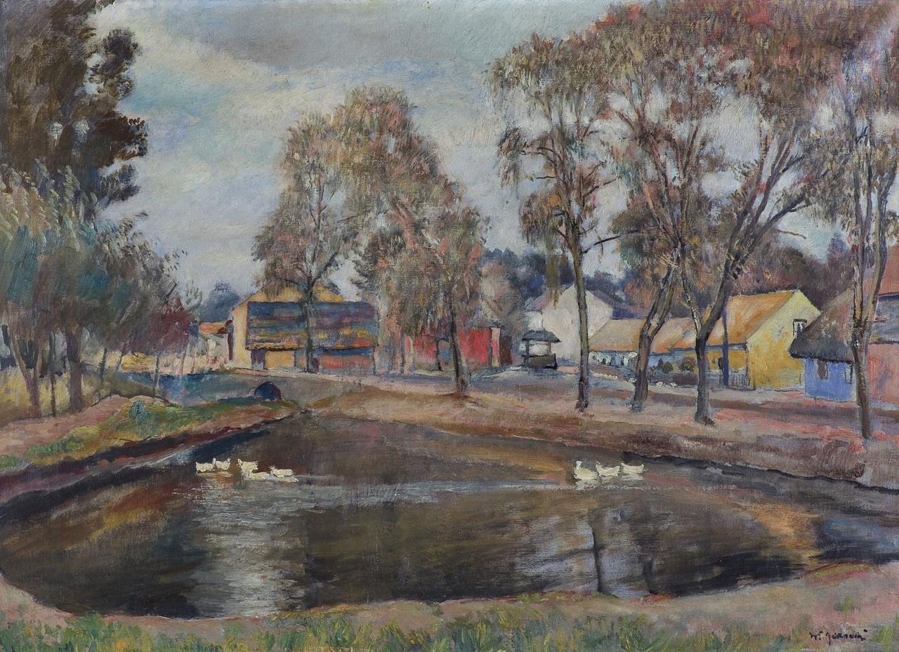 """Władysław Jarocki (1879-1965) """"Staw w Bronowicach"""", źródło: Desa Unicum"""