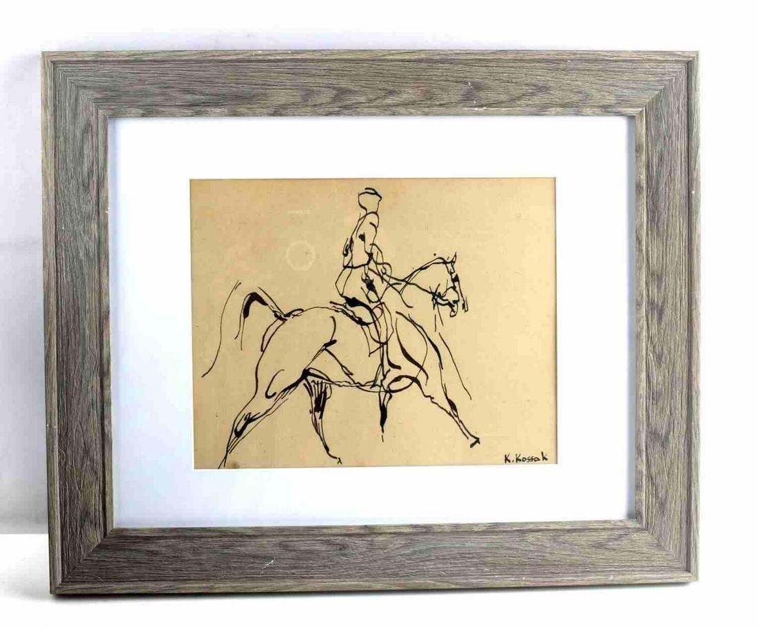 """Karol Kossak (1896-1975) """"Jeździec"""", źródło: Affiliated Auctions"""