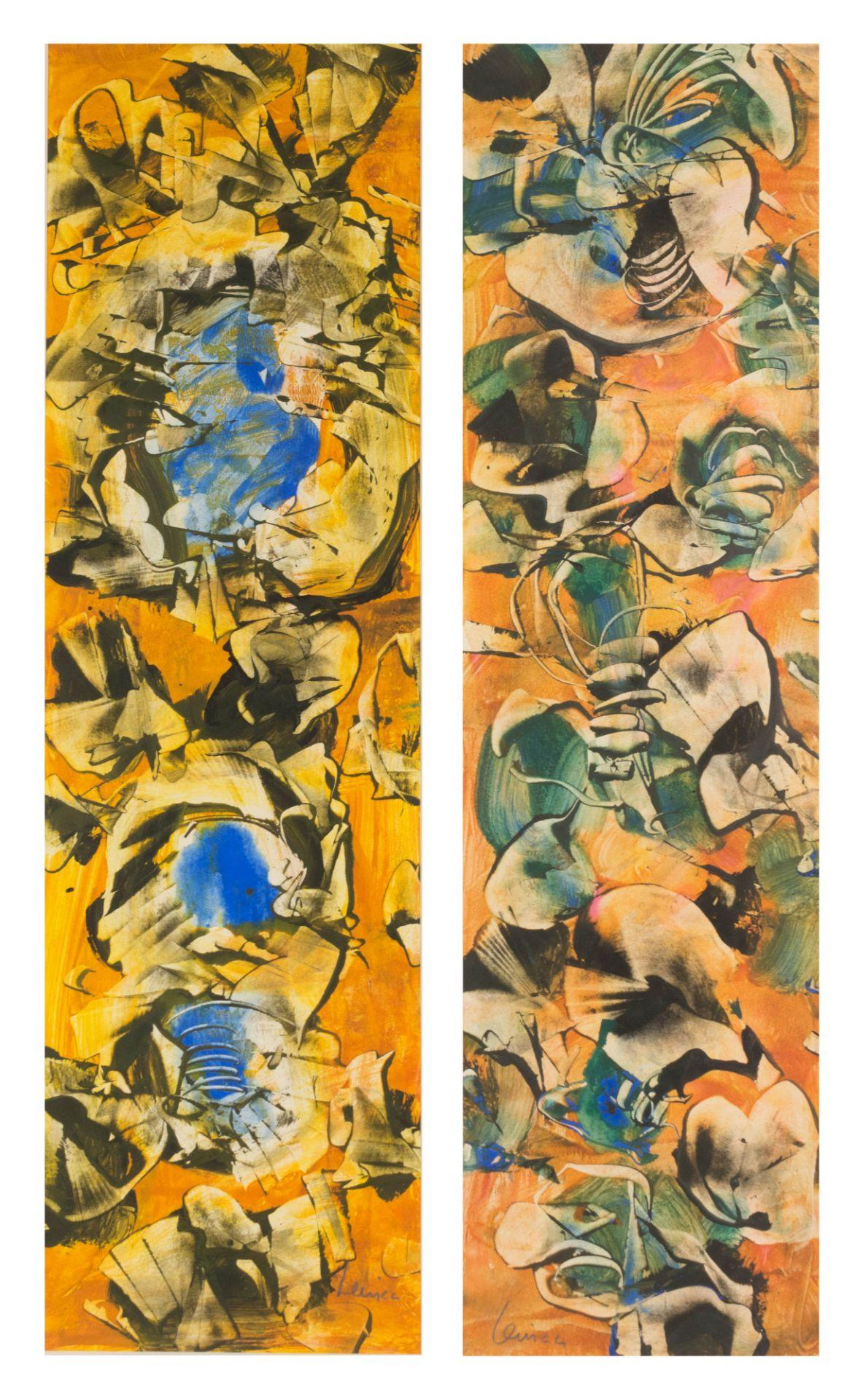 "Alfred Lenica (1899-1977) ""Dwie kompozycje abstrakcyjne"", źródło: Auktionshaus an der Ruhr"