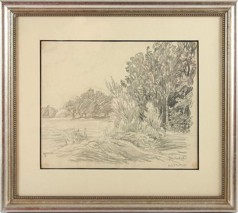 """Józef Mehoffer (1869-1946) """"Pejzaż z Wiśniowej"""", źródło: Salon Dzieł Sztuki Connaisseur"""