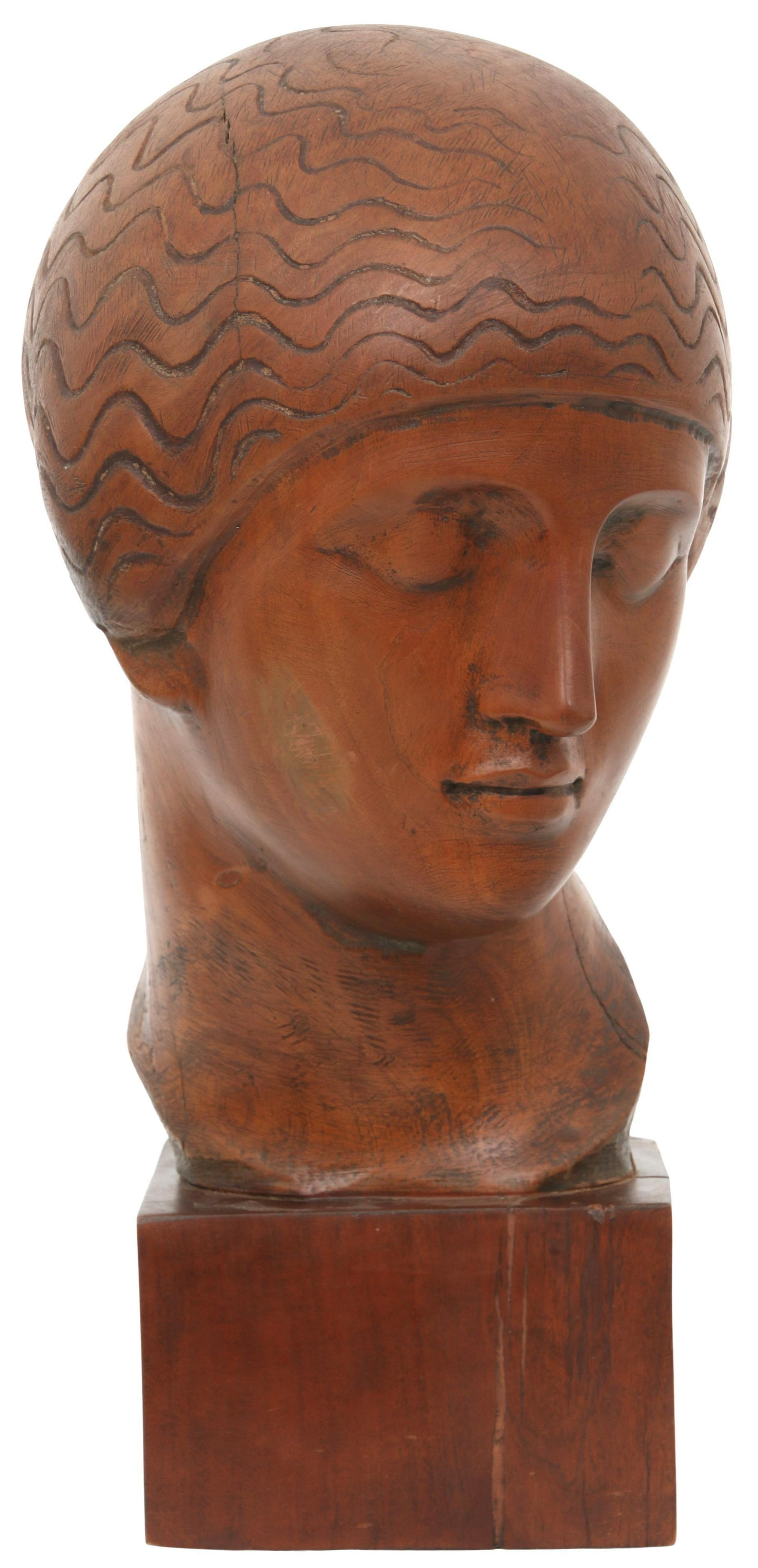 """Eliasz Nadelman (1882-1946) """"Głowa kobieca"""", źródło: Fontaine's Auction Gallery"""