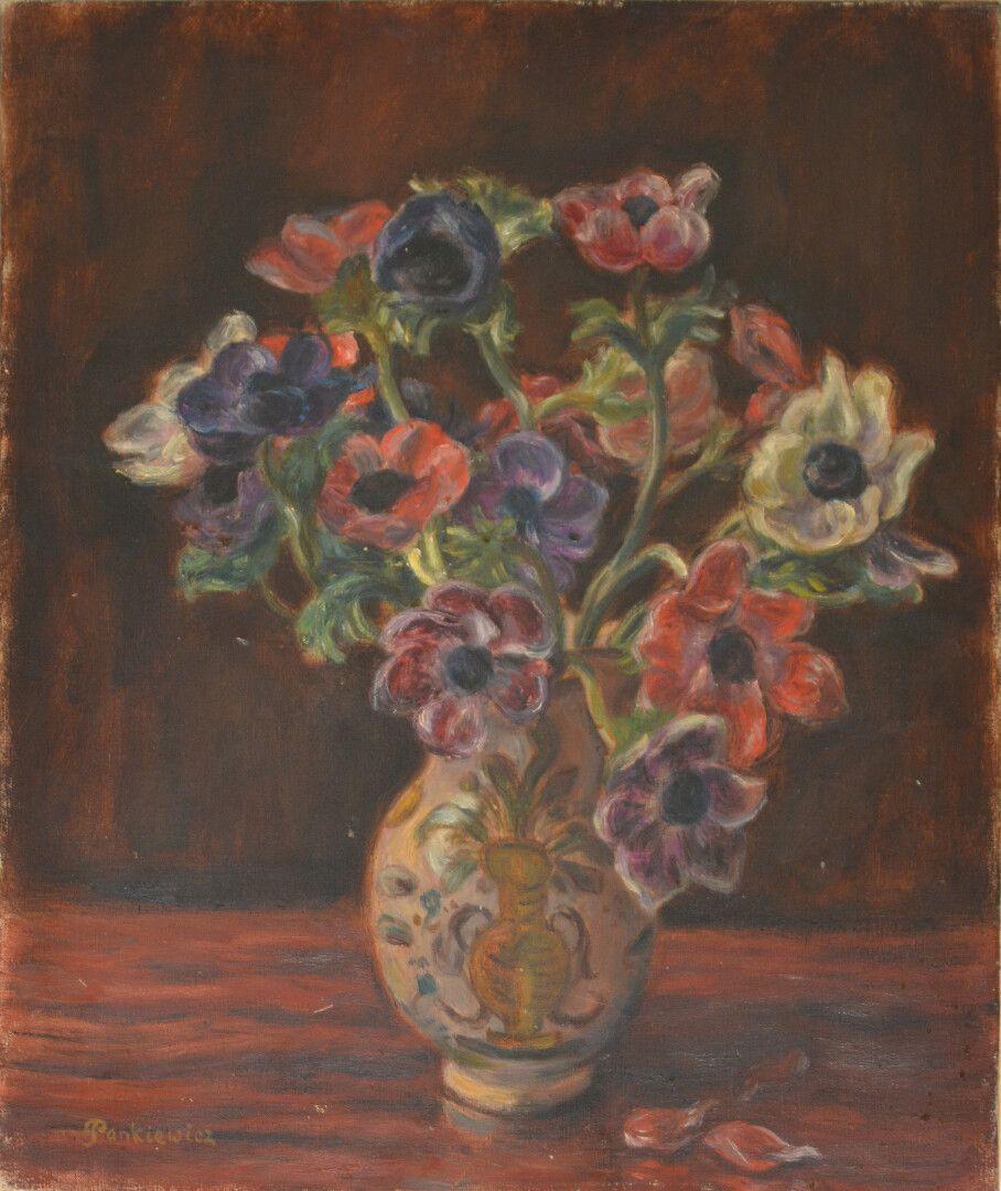 """Józef Pankiewicz (1866-1940) """"Bukiet anemonów"""", źródło: Oger & Blanchet"""