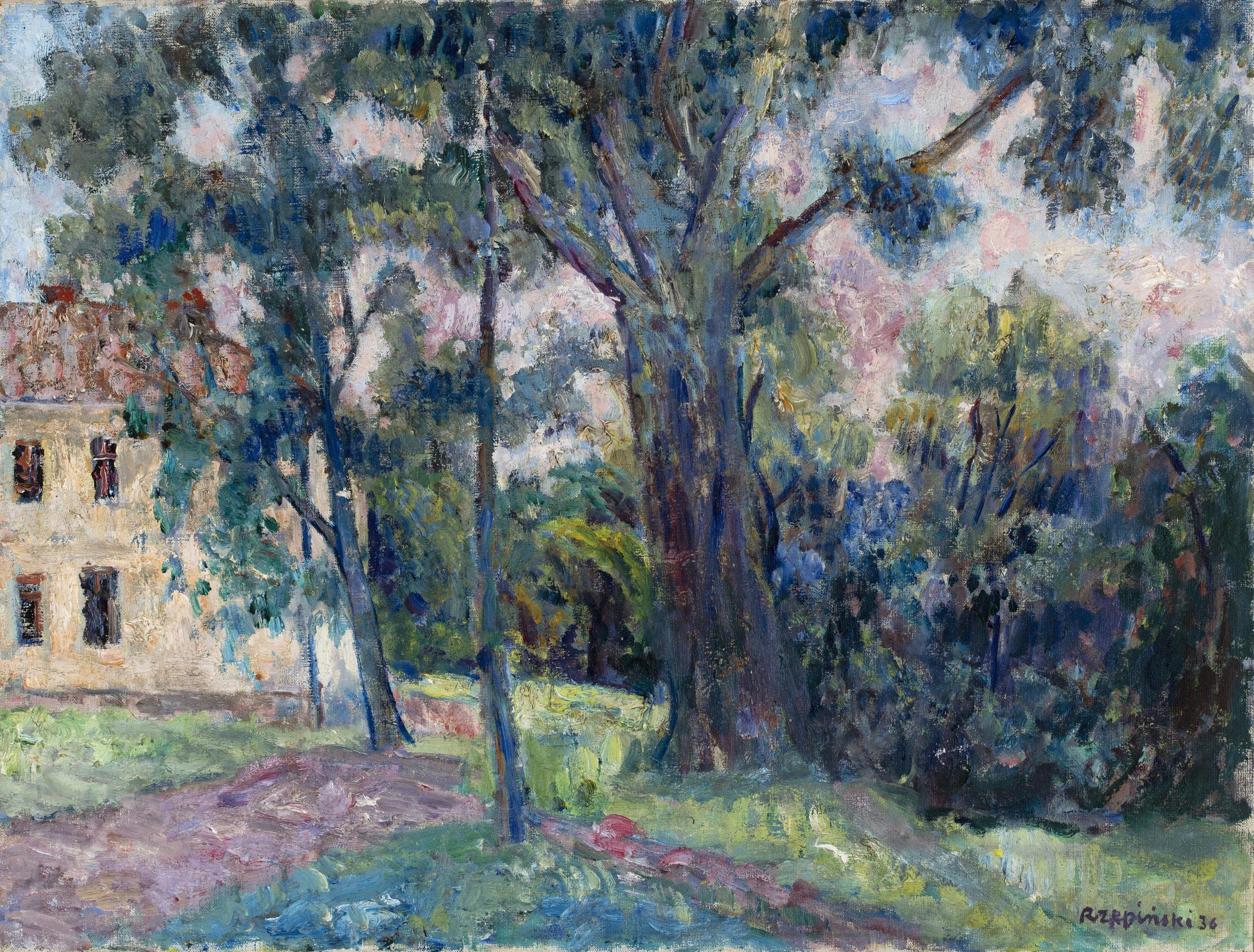 """Czesław Rzepiński (1905-1995) """"W parku"""", 1936 rok, źródło: Muzeum Narodowe w Warszawie"""
