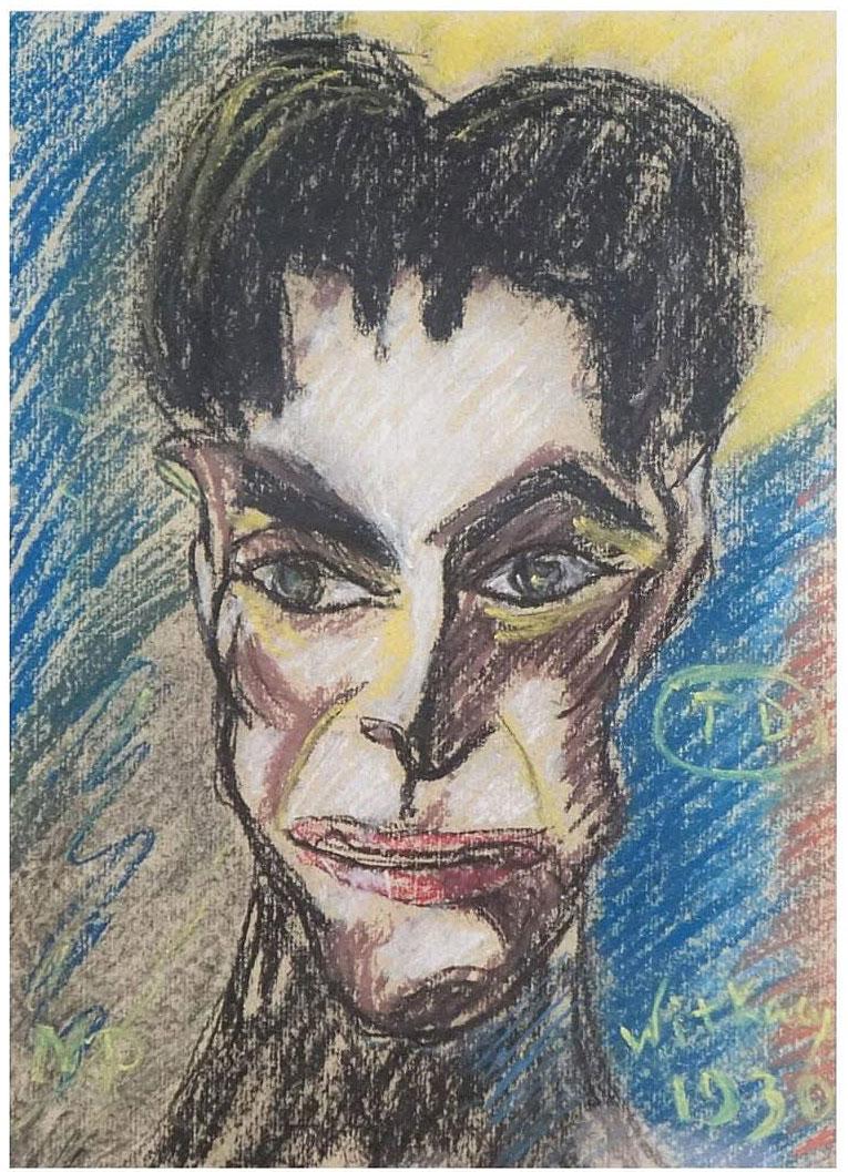 """Stanisław Ignacy Witkiewicz (1885-1939) """"Brunet"""", źródło: Kodner Galleries Inc."""