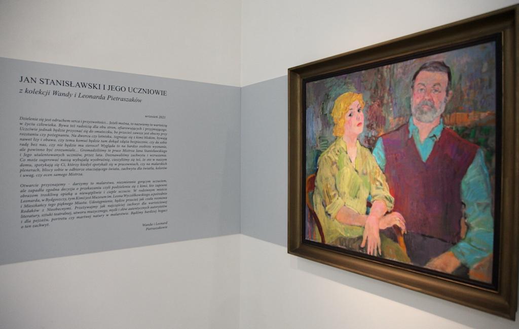 Wystawę otwiera portret Wandy i Leonarda Pietraszaków pędzla Jana Szancenbacha, źródło: archiwum autora