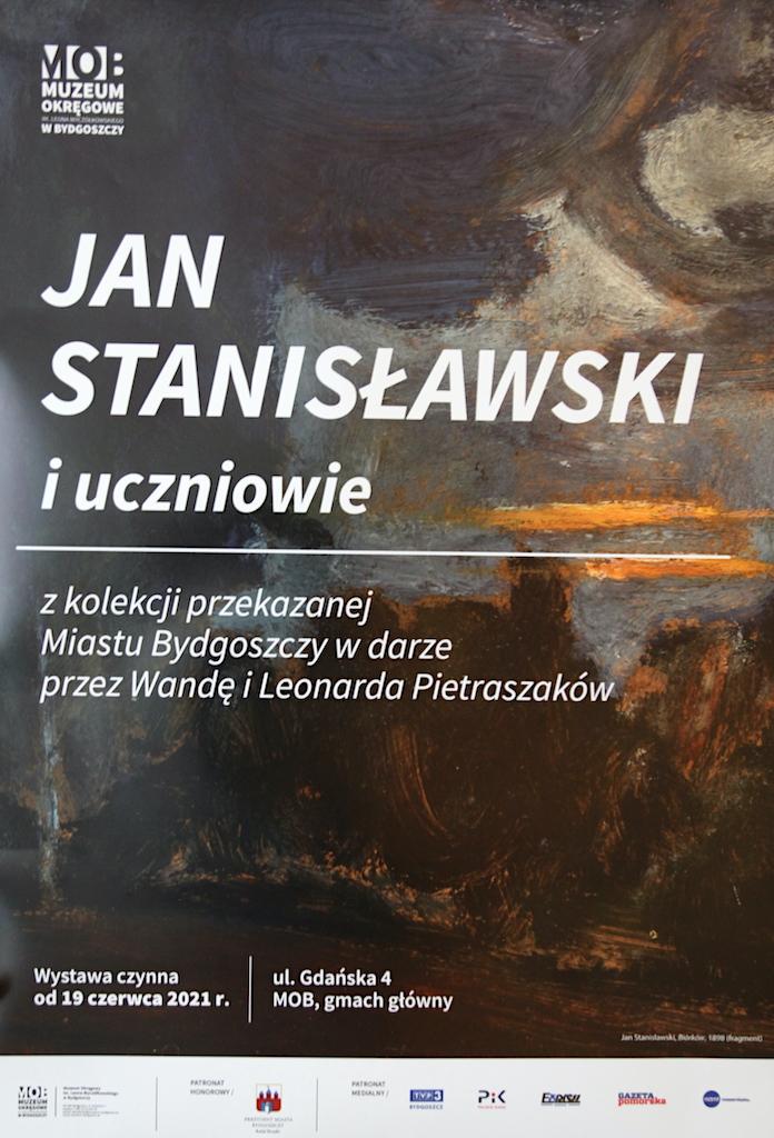 """Plakat wystawy """"Jan Stanisławski i uczniowie"""", źródło: archiwum autora"""