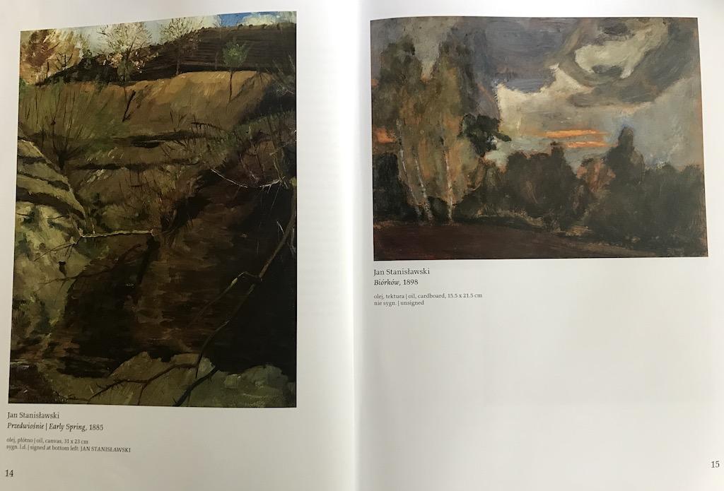 Prace Jana Stanisławskiego reprodukowane w katalogu wystawy, źródło: archiwum autora