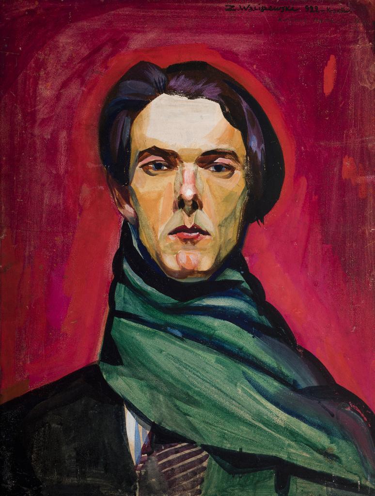 """Zygmunt Waliszewski (1897-1936) """"Autoportret"""", 1922 rok, źródło: Muzeum Narodowe w Krakowie"""