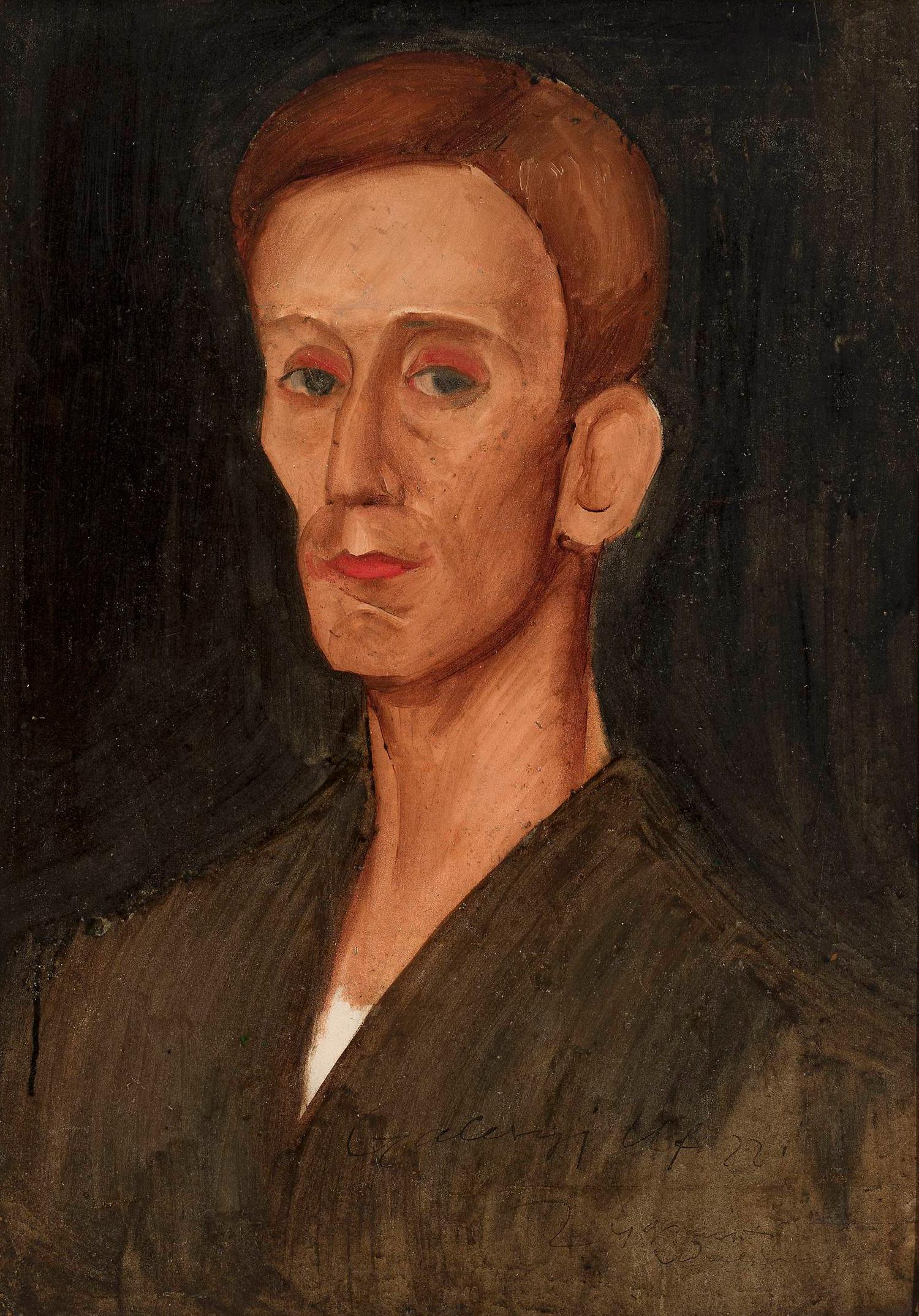 """Zygmunt Waliszewski (1897-1936) """"Portret Józefa Czapskiego"""", 1922 rok, źródło: Muzeum Narodowe w Warszawie"""