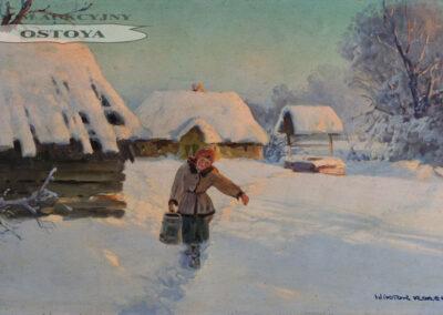 """Wiktor Korecki (1890-1980) """"Dziewczyna z wiadrem"""", źródło: Ostoya"""