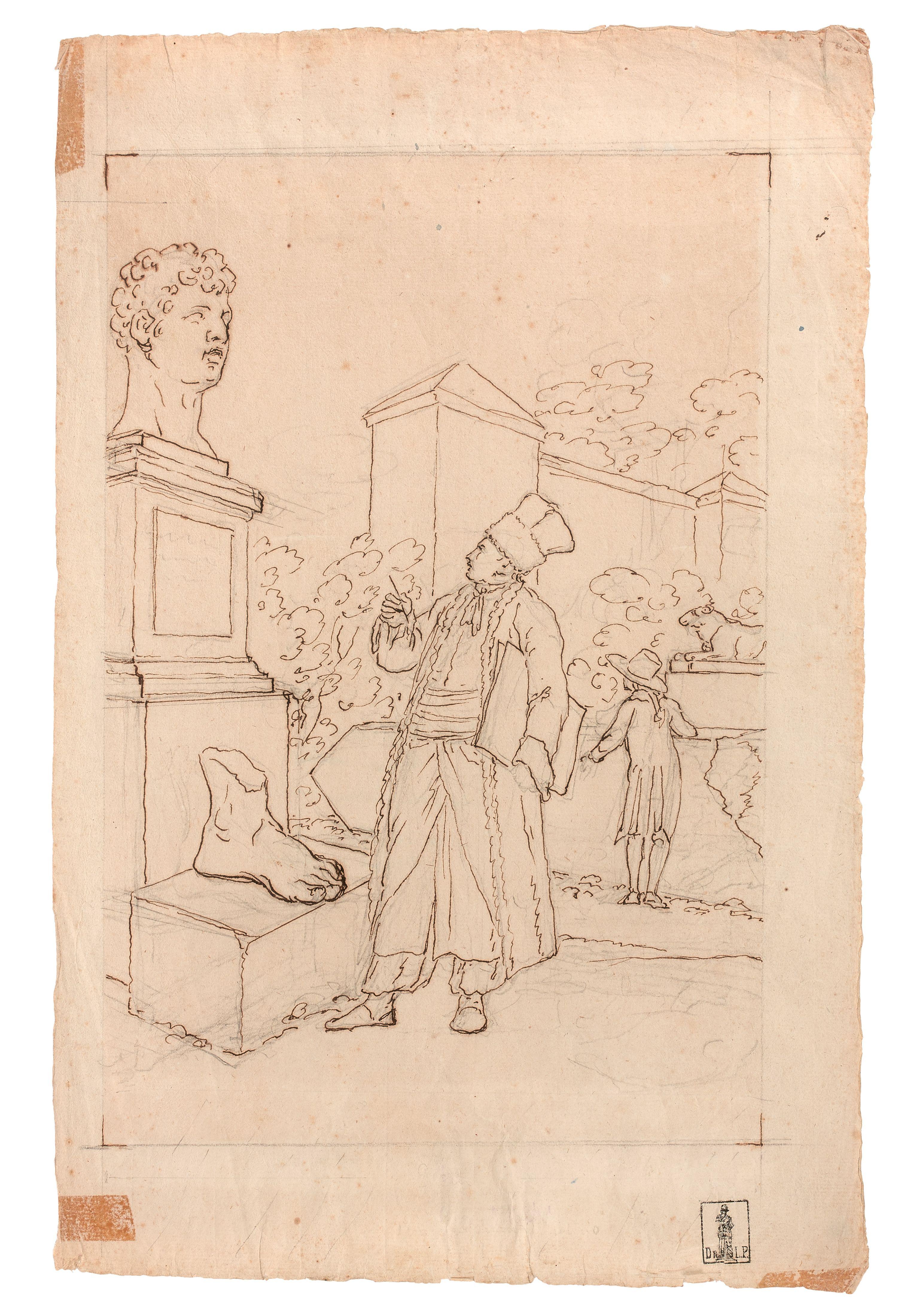 """Tadeusz Kuntze vel Taddeo Polacco (1727-1793) """"Autoportret w stroju polskim"""", źródło: Artcurial"""